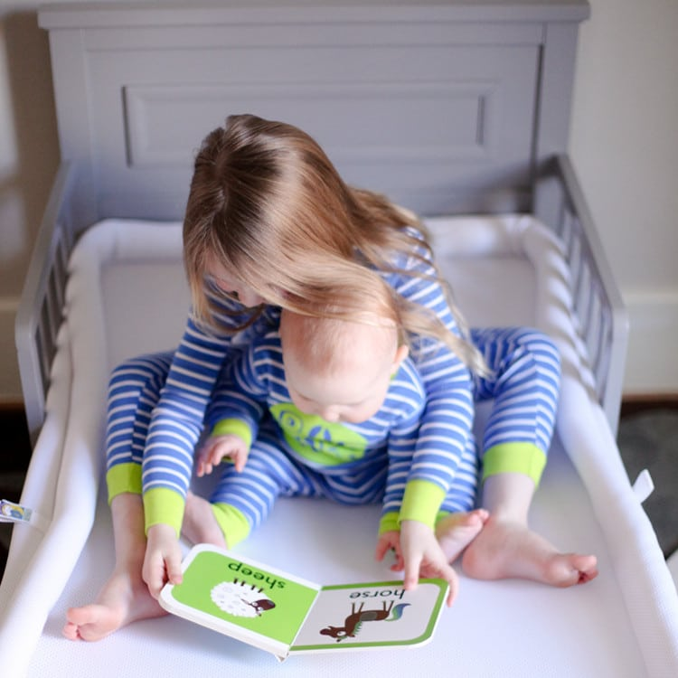 Safe-Sleep-Breathable-Crib-Mattress-works in both a crib and toddler bed