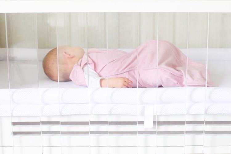 SafeSleep Breathe-Through Crib Mattress Gently cradles a baby's soft skull