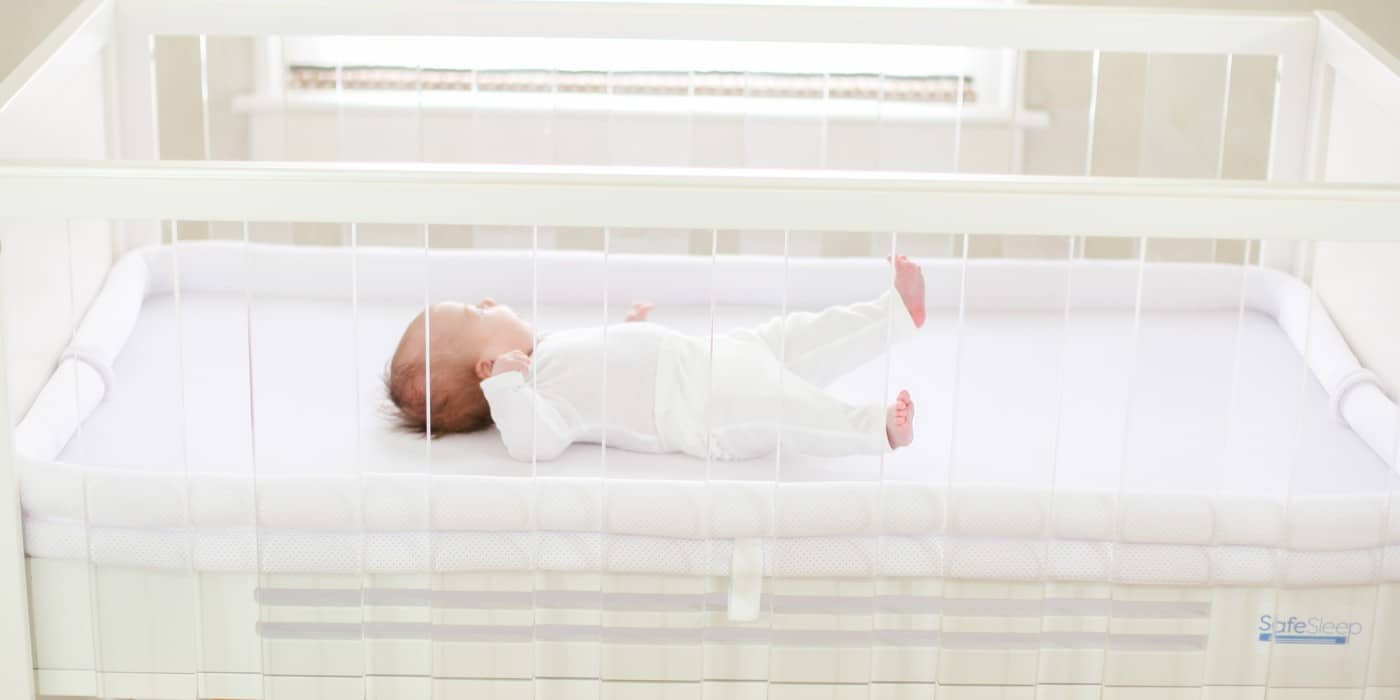 SafeSleep Breathe-Through Crib Mattress back sleeping is best